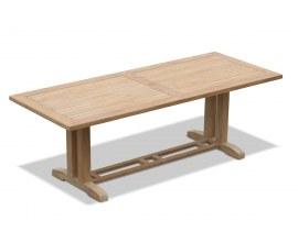 Rectory Rectangular Teak Pedestal Table - 2.25 x 0.9m