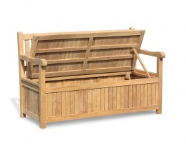 York Teak Storage Bench