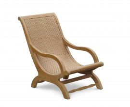 Verona Garden Lounge Chair, Teak and Rattan