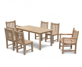 Hampton Teak Rectangular Dining Set