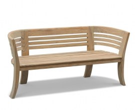 Bloomsbury Teak 3 Seater Deco Garden Bench