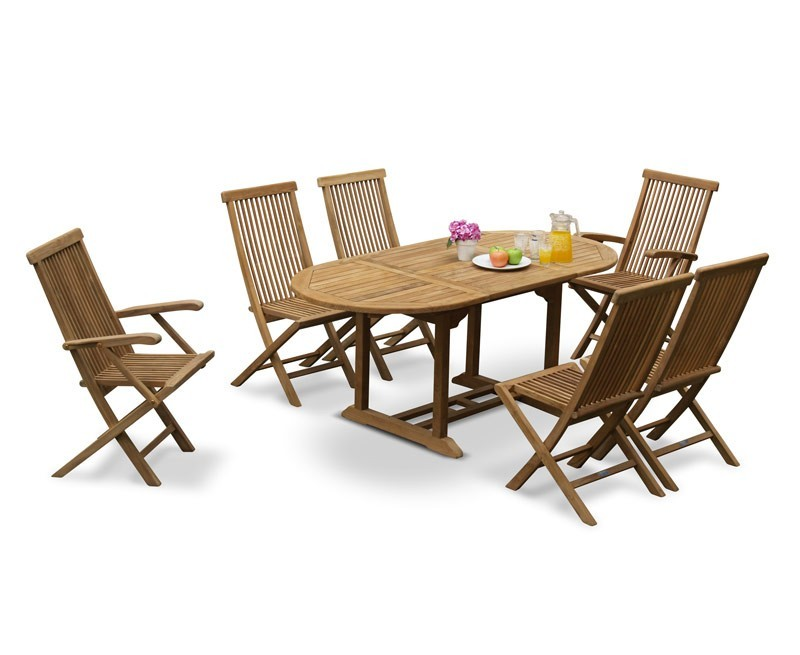 Oxburgh Curzon Single Leaf Extending Table & 6 Newhaven Chairs