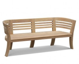 Bloomsbury Teak 4 Seater Deco Garden Bench