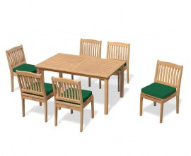 Hampton 6 Seater Rectangular 1.5m Dining Set with Winchester Chairs