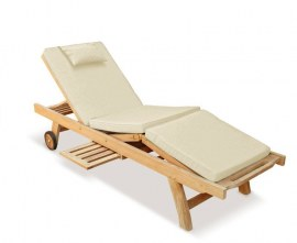 Wooden Reclining Sun Lounger