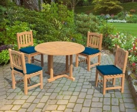 Sissinghurst 4 Seater Round 1.2m Dining Set with Kennington Chairs