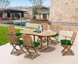 Oxburgh Bijou 6 Seater Single Leaf Extending Table 1.2-1.8m with Palma Armchairs and Side Chairs