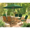 Oxburgh Single Leaf Extending Table with 6 Cannes Reclining Chairs