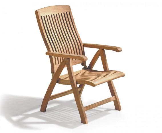 Cannes Teak Reclining Chair
