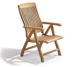Cannes Teak Reclining Garden Chair