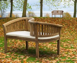 Teak Kissing Bench