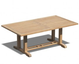 Rectory Rectangular Teak Outdoor Table - 2m