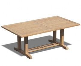 Rectory Rectangular Teak Outdoor Table - 2m