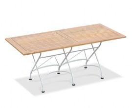 Café Rectangular Folding Bistro Table White - 1.8m