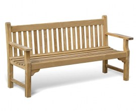 Turner Teak 4 Seater Garden Bench - 1.8m