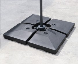 HDPE Fillable Cantilever Parasol Base Weights - 90-120kg