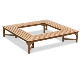 Square Teak Tree Seat - 2.2m