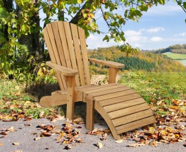 Teak Adirondack Bear Chair