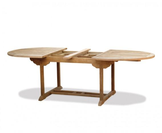 Oxburgh Teak Oval Extending Garden Table – 1.8m - 2.4m