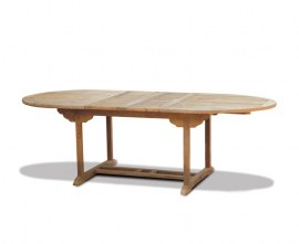 Teak Oval Extendable Dining Table