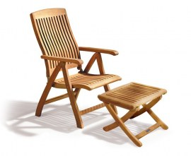 Outdoor Recliner Chair with Footrest