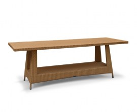 Verona Large Rattan Rectangular Table - 2.2 x 0.8m