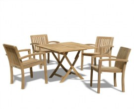 Teak Square Garden Dining Set