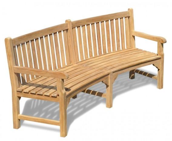 Curved Wooden Garden Bench