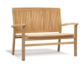 Cannes Teak Outdoor Stacking Bench - 1.2m