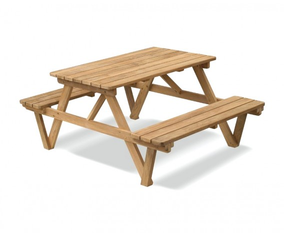 Teak Heavy Duty Garden Picnic Bench - 1.2m