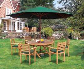 Suffolk Octagonal 1.5m Table & 6 Yale Stacking Chairs