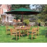 Lymington 6 Seater Octagonal 1.5m Dining Set with Sussex Armchairs