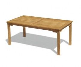 Hampton Teak Rectangular Garden Dining Table - 1.8m