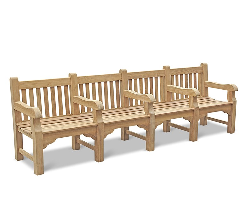 Gladstone Heavy Duty Park Bench with Arms - 3m