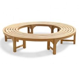 Cosmos Teak Circular Tree Bench Seat - 2.2m