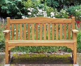 Runnymede 3 Seater Teak Garden Bench - 1.5m