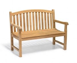 Gloucester 2 Seater Teak Garden Bench - 1.2m