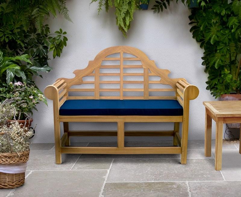 Lutyens-Style Decorative Teak Garden Bench