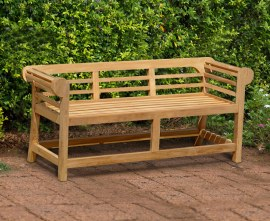 Lutyens Low Back Outdoor Bench