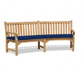 Lansbury Curved Wooden Bench