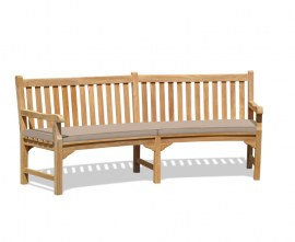 Teak Curved Patio Bench