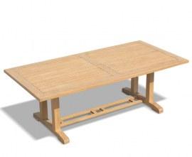 Rectory Oblong Pedestal Table, Teak Wood – 1.1 x 2.25m