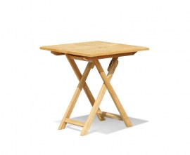 Lymington Square Teak Folding Table - 70cm