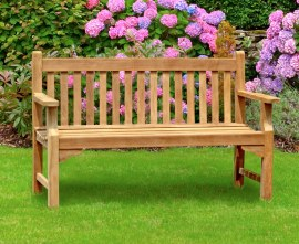 Turners 3 Seater Teak Garden Bench - 1.5m