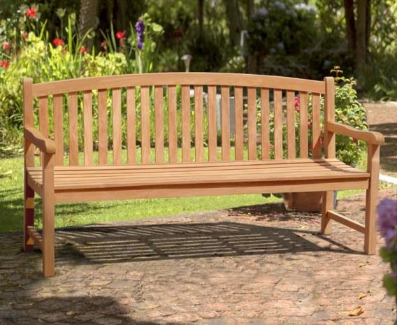 Gloucester Teak 4 Seater Garden Bench - 1.8m