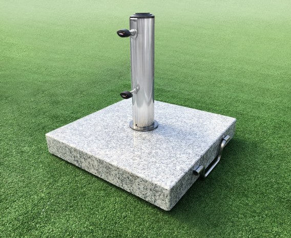 Square Granite Parasol Base with Wheels - 25kg