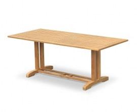 Cornwall Rectangular Teak Garden Pedestal Dining Table