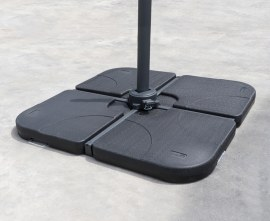 HDPE Concrete Filled Cantilever Parasol Base Weights - 100kg