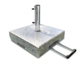 Granite Parasol Base with Wheels - 70kg