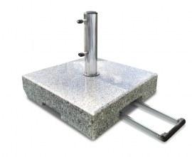 Granite Parasol Base with Wheels - 70kg